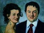 Дмитрий и Марина - ПОДАРЕНА на свадьбу Журавлевой Марины и Райкова Дмитрия, холст, масло, 2010, 110х70