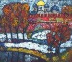 ***Новгородский Кремль осенью - <p>холст, масло. Цена договорная</p>