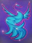 Синяя птица - 60*70, 2008г., 25000,00 руб.